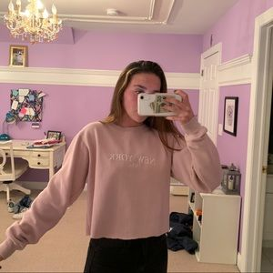 Cropped brandy Melville sweatshirt